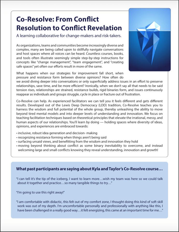 Co-Resolve Flyer Pg 1